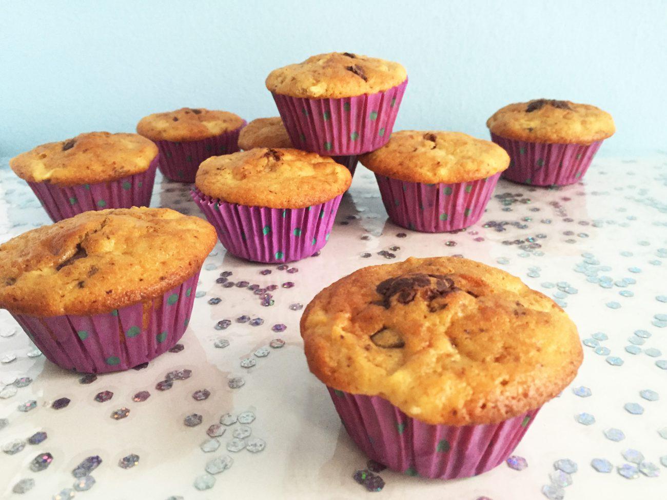 Muffin alle mele e cioccolato