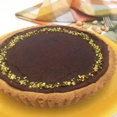 Crostata di frolla al pistacchio con cioccolato fondente Alice Dolce Vaniglia