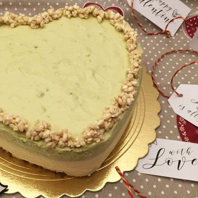 Bavarese al cioccolato bianco e pistacchi Alice Dolce Vaniglia
