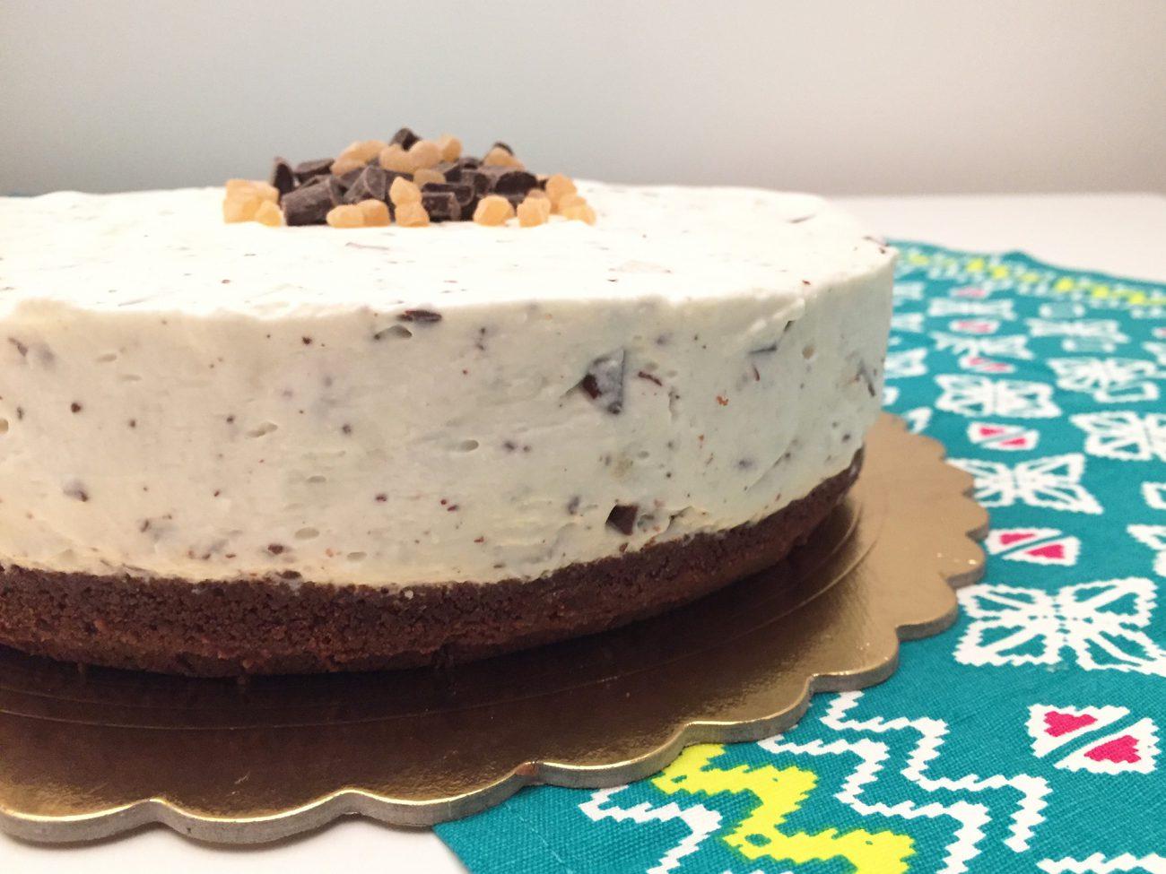 Cheesecake alla ricotta pere e cioccolato