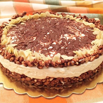 Cheesecake con riso soffiato mascarpone e nutella Alice Dolce Vaniglia