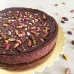 Crostata al cioccolato e zucca con pistacchi e sale di Maldon di Ernst Knam