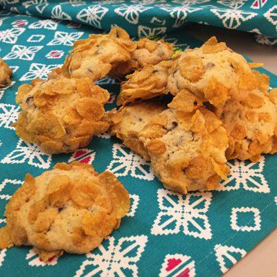 Cookies con gocce di cioccolato e cornflakes Alice Dolce Vaniglia